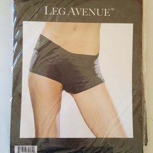 Black Seamless Boyshorts Leg Avenue